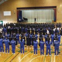 全校合唱の練習