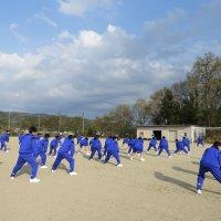 放課後陸上練習