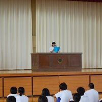 1学期の終業式を行いました。