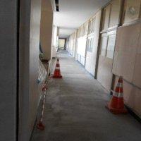 校舎内の工事が進んでいます