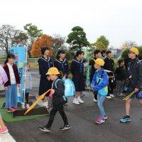 金砂郷中学校区あいさつ運動を行いました