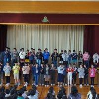 久米っ子集会(6年生学級発表会)
