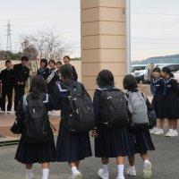 生徒会選挙 朝の挨拶運動