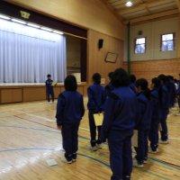 三年生を送る会と卒業式の練習