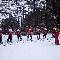 宿泊学習1日目 スキー練習