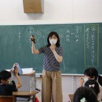 慣らし登校で,しっかり感染症予防を行いました!