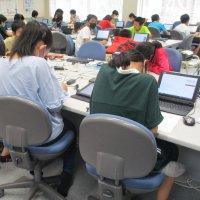 パソコン室での学習,大好き!!