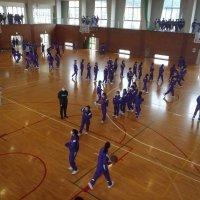 昼休みスポーツ大会(フリースロー対決)