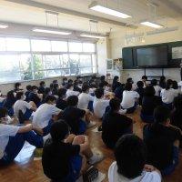 夏休み前の学年集会(1・2年)