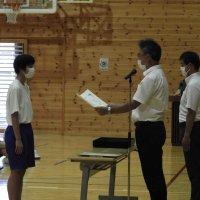 夏季休業前の全校集会が開かれました
